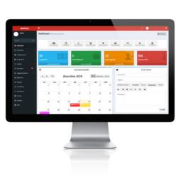 Schermo in 16:9 che visualizza il Software Gestionale CRM Aziendale Open&Go